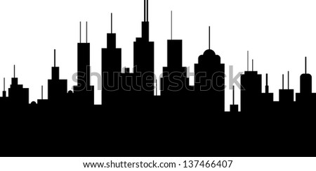 A vector illustration of a generic city skyline