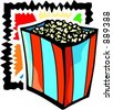A vector illustration of a popcorns. - stock photo