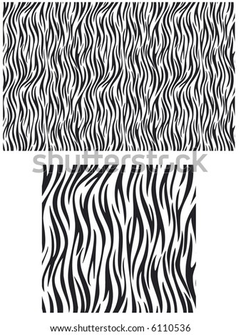 A vector illustration of a zebra striped pattern - stock vector