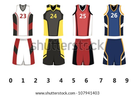 basketball uniform stock images royalty free images vectors