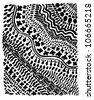 A vector illustration of black & white ornamental texture. - stock vector