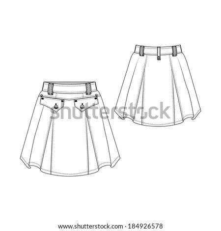 A vector illustration of Fashion Skirt - stock vector