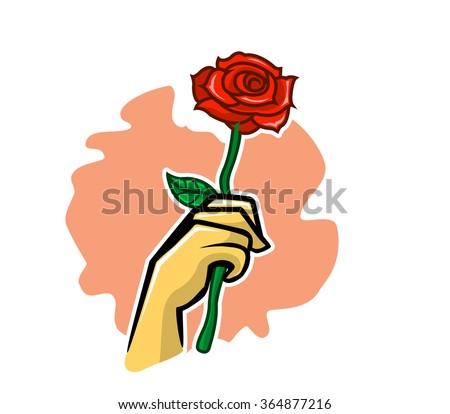 Hand Holding Rose
