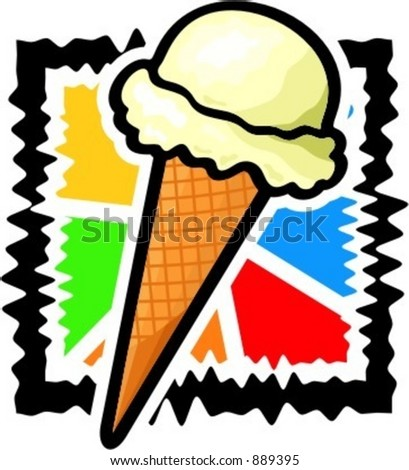 A vector illustration of ice-cream.