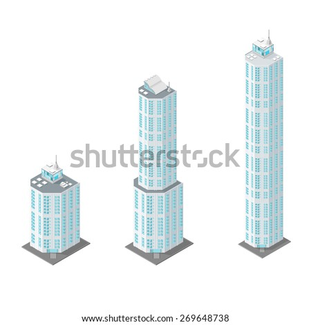A vector illustration of modern office buildings. Office buildings Modern buildings for corporate business. - stock vector
