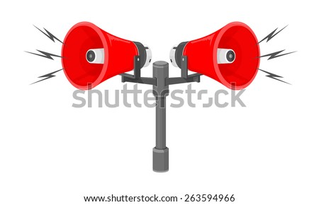 Vector Illustration Speakers Sounding Warning Siren 263594966 further 151594455287 also Details moreover Industrial Fire Alarms further Civil defense siren. on air raid siren horn sound