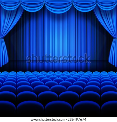 Curtains Ideas blue stage curtains : Blue Curtain Stock Images, Royalty-Free Images & Vectors ...