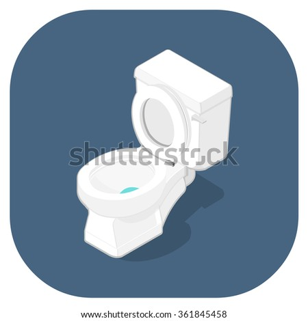 A vector isometric Icon of a toilet lavatory  Isometric Toilet vector icon  illustration  Bathroom. Toilet Vector Stock Photos  Royalty Free Images   Vectors
