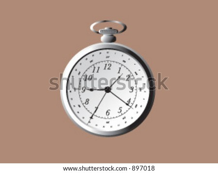A vintage stopwatch in vector format - stock vector