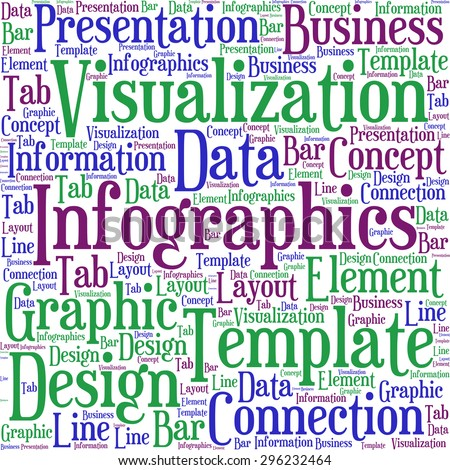 "A visual representation of the theme ""Infographics"" in a word tag cloud"