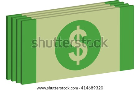 a wad of DOLLAR BILLS 3d icon