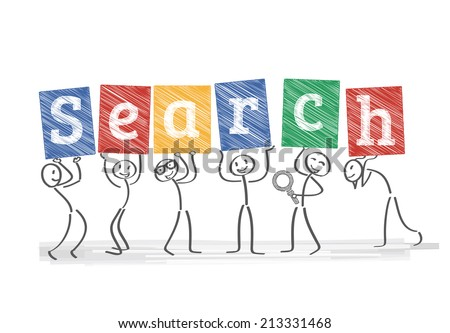 A web search engine is a software system that is designed to search for information on the World Wide Web - stock vector
