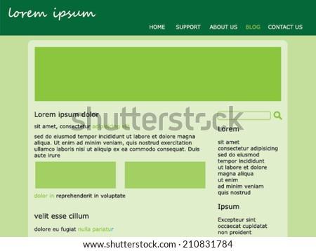 A Website template design - stock vector