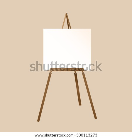 A white canvas on an easel