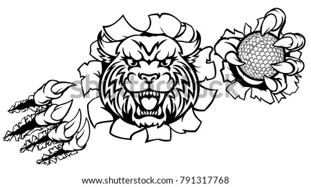 Wildcat stock images royalty free images vectors for Wildcat coloring pages