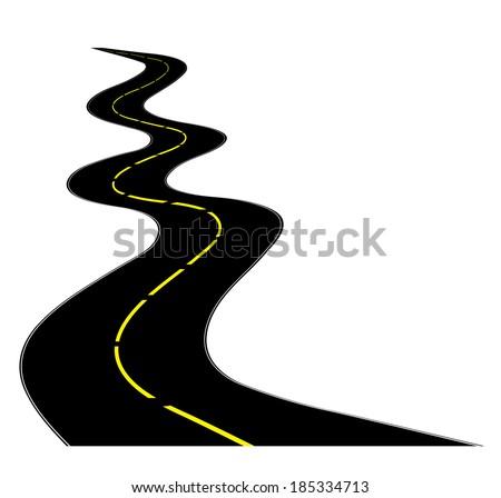 winding road on white stock vector 2018 185334713 shutterstock rh shutterstock com  winding road clipart free