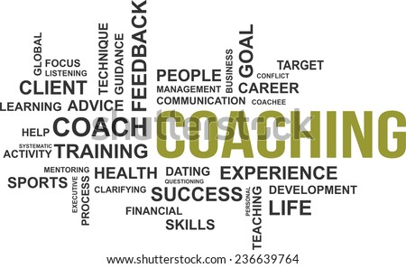 A word cloud of coaching related items - stock vector
