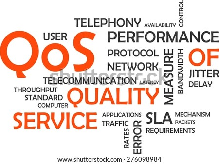 A word cloud of quality of service related items - stock vector