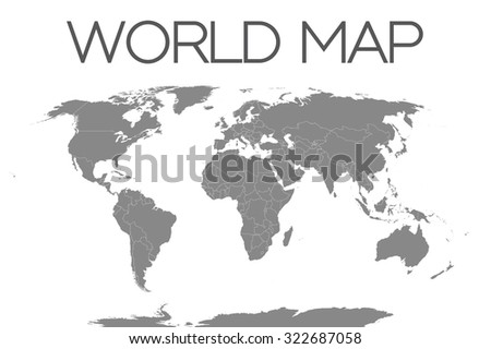 A World Map Isolated on White Background