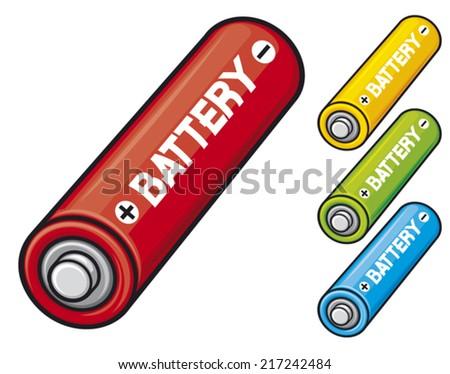 AA batteries - stock vector