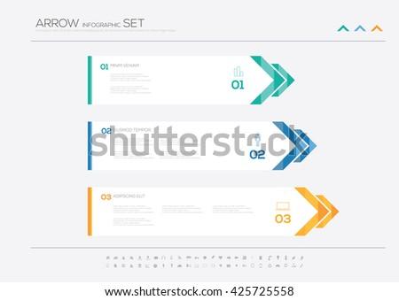 Aarrow options infographic design, Vector illustration  - stock vector