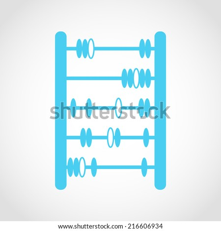 Abacus Icon Isolated on White Background - stock vector