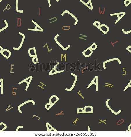 ABC alphabet seamless pattern