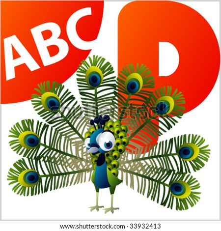 ABC Animals: P is for Peacock
