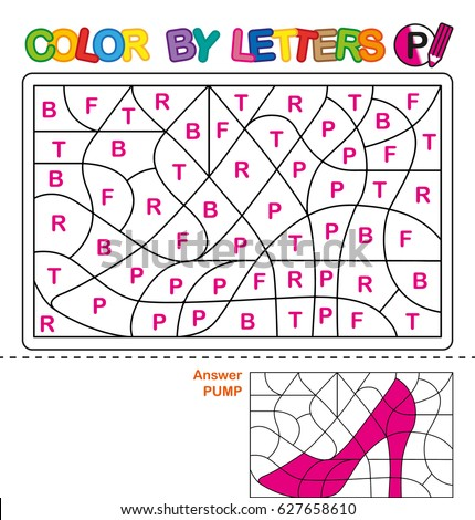 Abc Coloring Book Children Color By Stock Vector 627658598 ...