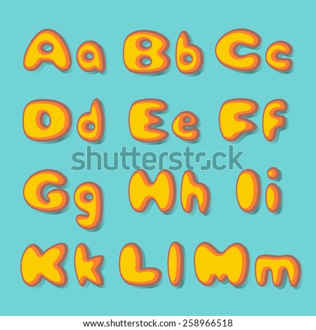 ABC  fat  set in retro style - stock vector
