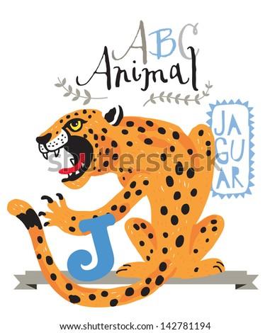 ABC jaguar - stock vector