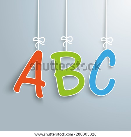 ABC letters on the gray background. Eps 10 vector file. - stock vector