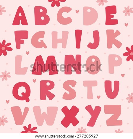 ABC pink vector design