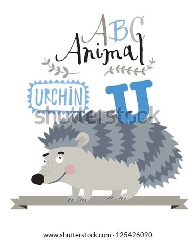 ABC urchin - stock vector