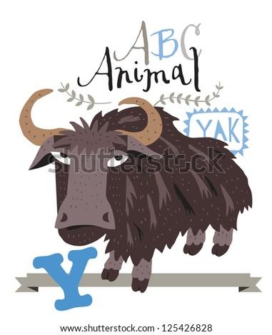 ABC Yak - stock vector