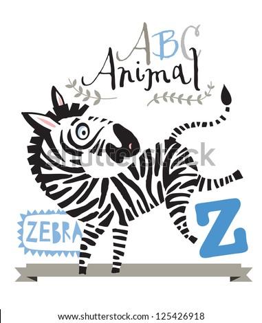 ABC zebra - stock vector