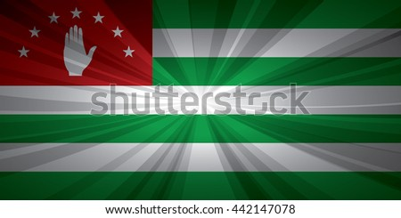 Abkhazia flag vector illustration.