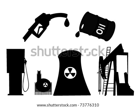 About oil - stock vector