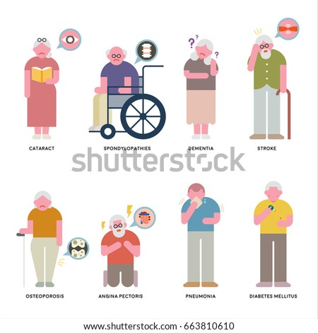 about Senile disease vector illustration flat design