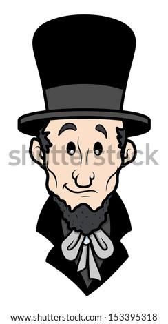 Abraham Lincoln Cartoon Vector Character - stock vector