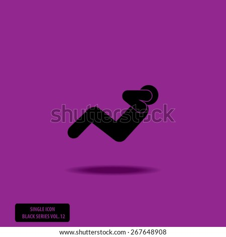 ABS Exercise - Sit Up - Single Icon Series vol. 12 - stock vector