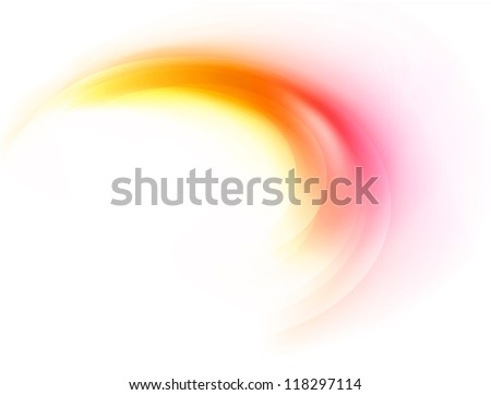 absract  flame  curve - stock vector