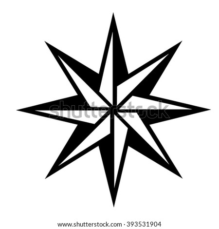 Abstact compass icon . Vector illustration - stock vector