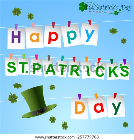 Abstrackt of St.Patrick's Day, Background Design, Illustration, EPS 10. - stock vector