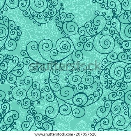 abstracract vintage blue seamless background, vector illustration