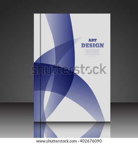 Abstract  A4  brochure background eps10 vector illustration 1 - stock vector
