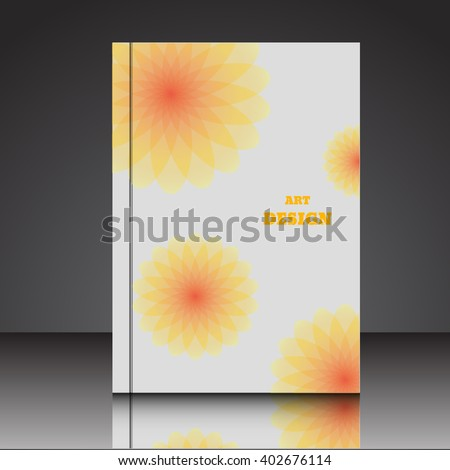 Abstract  A4  brochure background eps10 vector illustration 6 - stock vector