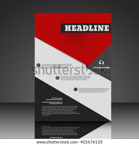 Abstract  A4  brochure background eps10 vector illustration 9 - stock vector