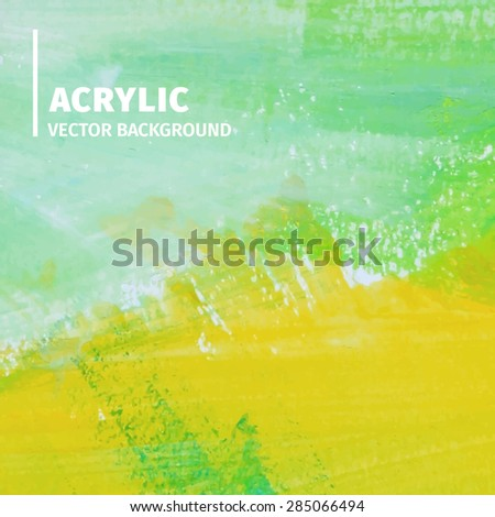 Abstract acrylic background. Vector illustration - stock vector