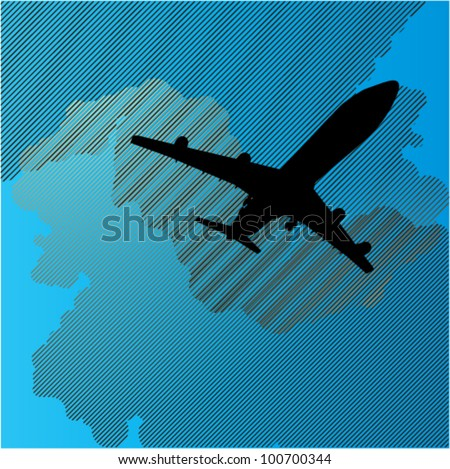 Abstract Airplane Theme - stock vector